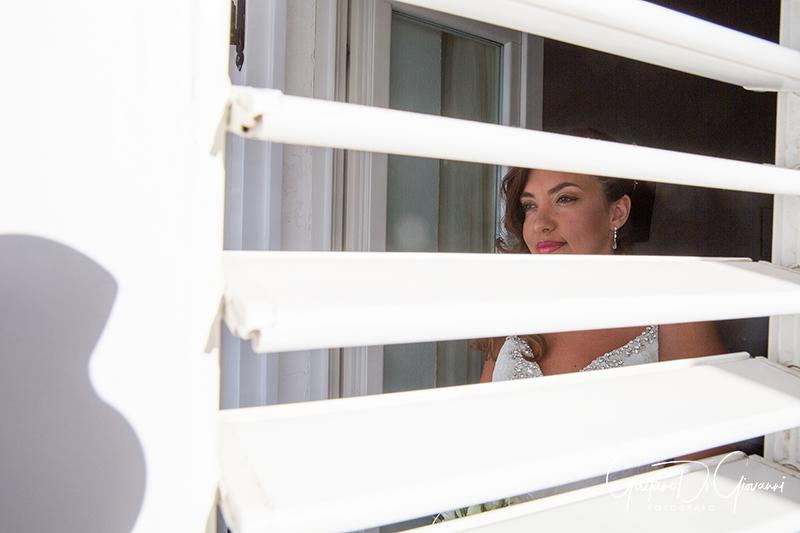 matrimonio a Stromboli:sposa