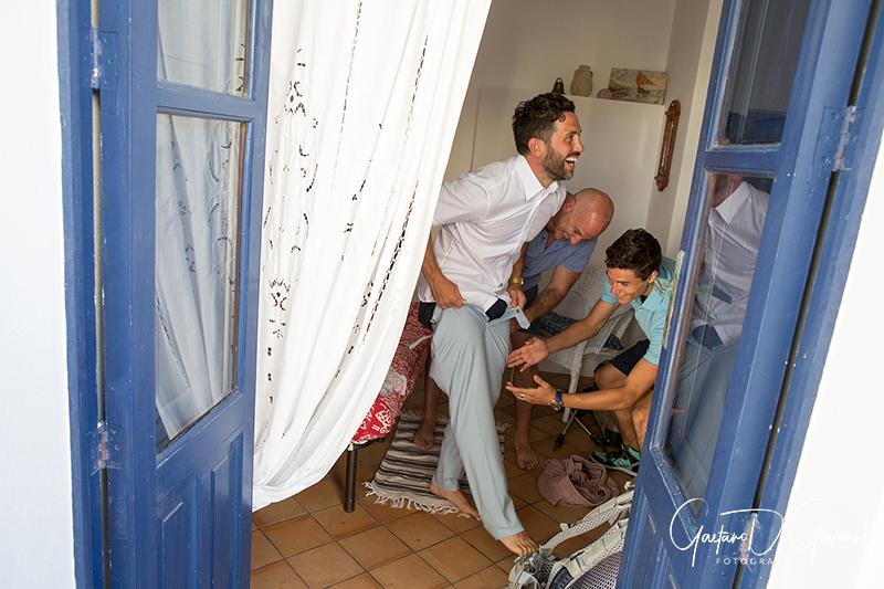 matrimonio a Stromboli: preparativi sposo