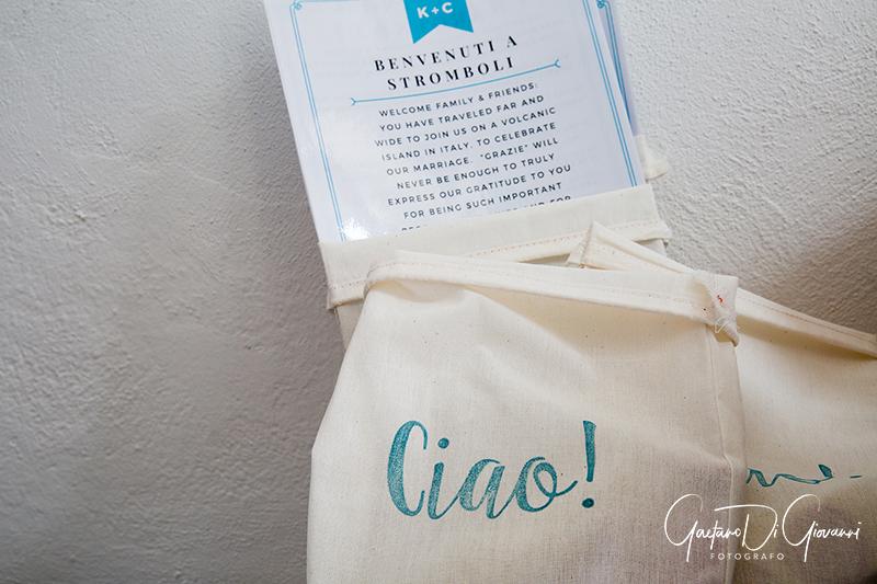 matrimonio a Stromboli:dettagli