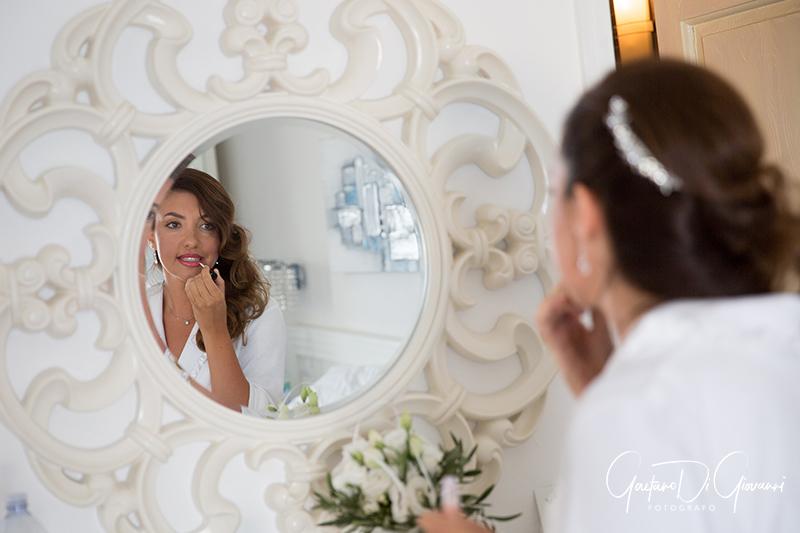 matrimonio a Stromboli: preparativi sposa