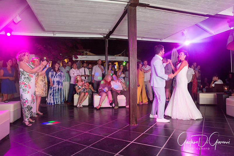 matrimonio a Stromboli: la festa