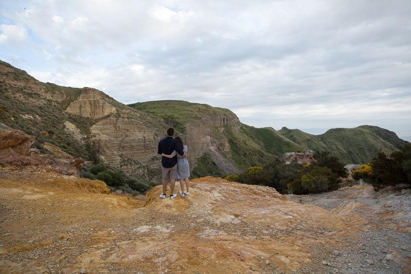 sposi al canyon cave di caolino lipari