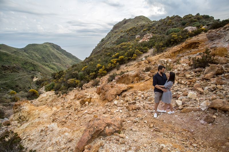 coppia a lipari cave di caolino