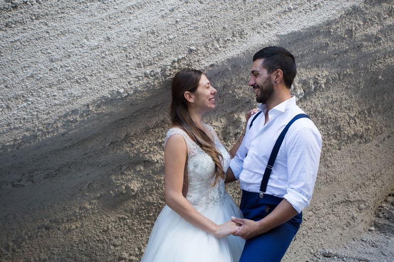 sposi sguardi dopo matrimonio a lipari
