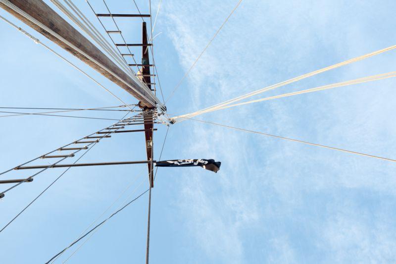 Matrimonio a Lipari dettaglio imbarcazione d'epoca