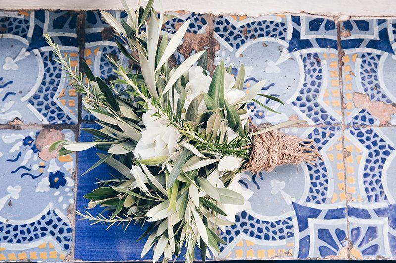 piastrelle eoliane con bouquet