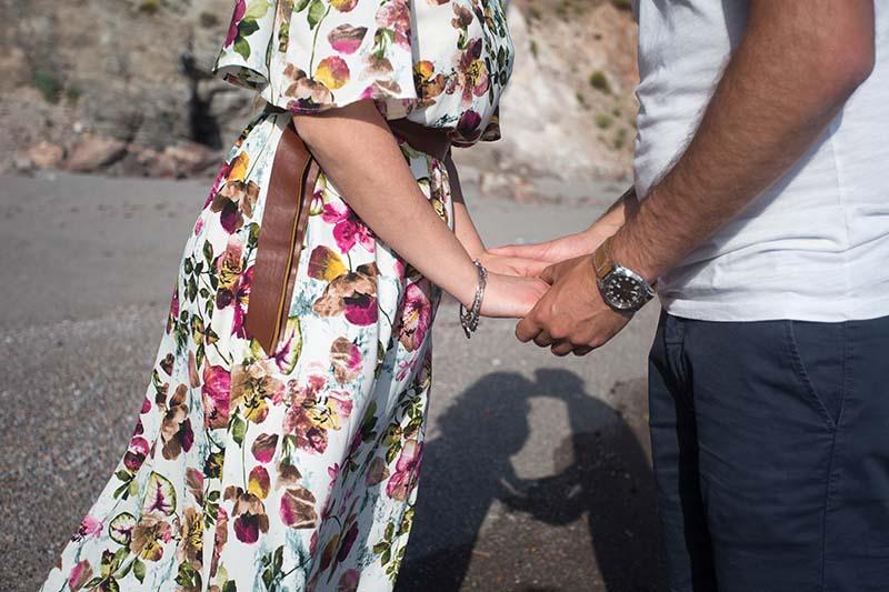 matrimonio a lipari ,sposi in spiaggia