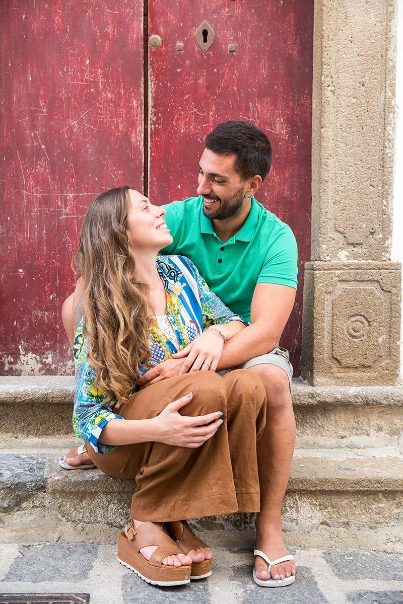 sposi durante servizio fotografico prematrimoniale