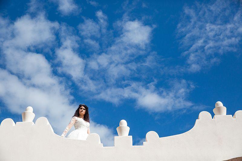 sposa in terrazza tipica eoliana