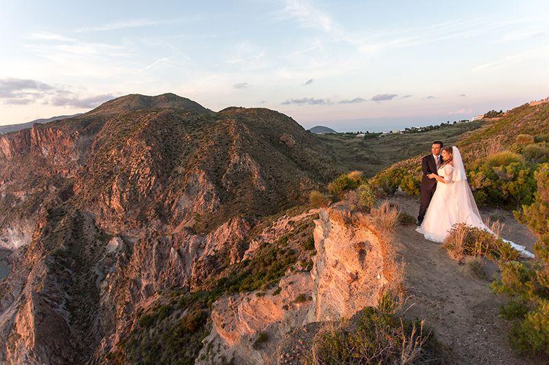 sposi tra macchia mediterranea a lipari