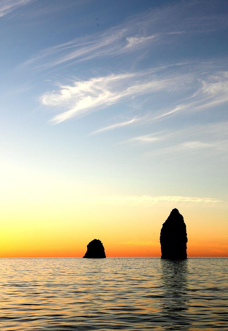 tramonto ai faraglioni di lipari